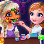 Frozen Sisters Halloween Face Art