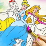 Princess Coloring Book I
